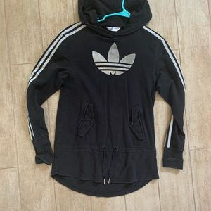 Adidas originals long hoodie tunic